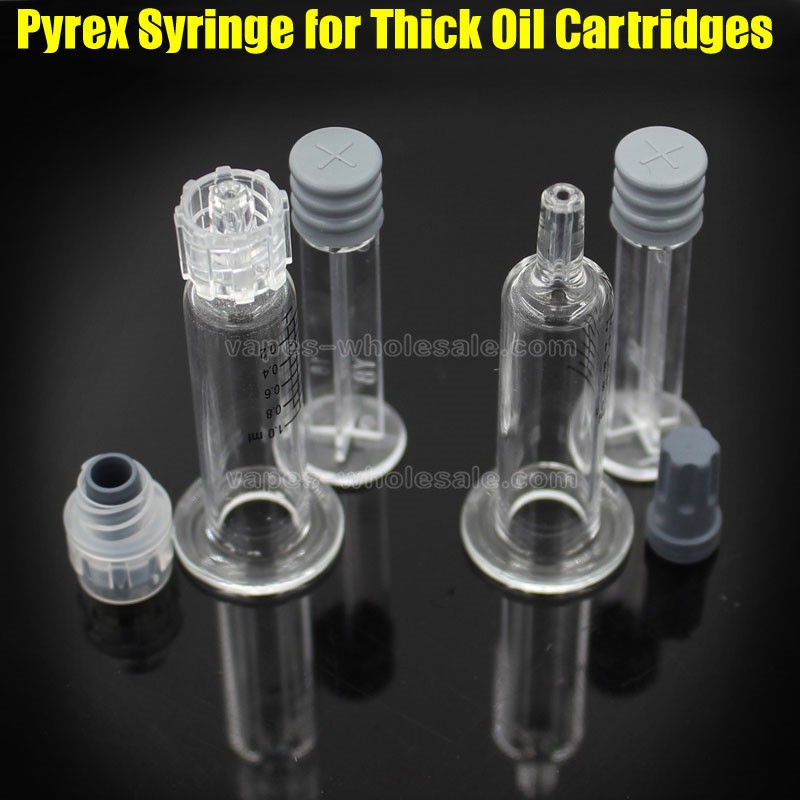 1ML Luer Lock Pyrex Syringe Glass Tip Head Injector for CBD