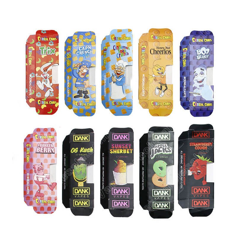 Newest Dank Vapes All Flavors Paper Packaging Box For Cbd Thc