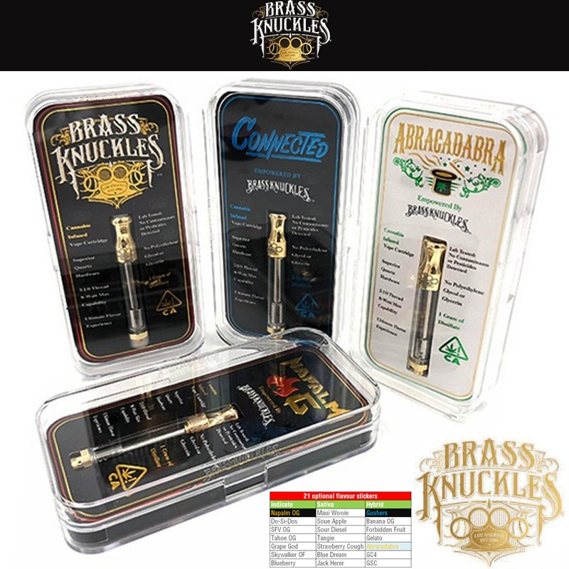 Newest Gold Brass Knuckles Connected Abracadabra Napalm OG
