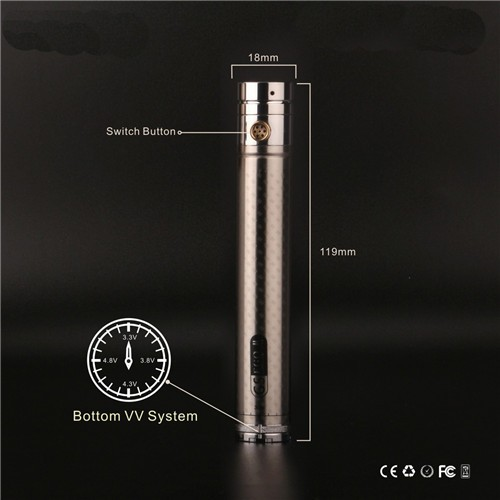 Gs Ego Ii Twist 2200mah 3 3 4 8v Variable Voltage Battery
