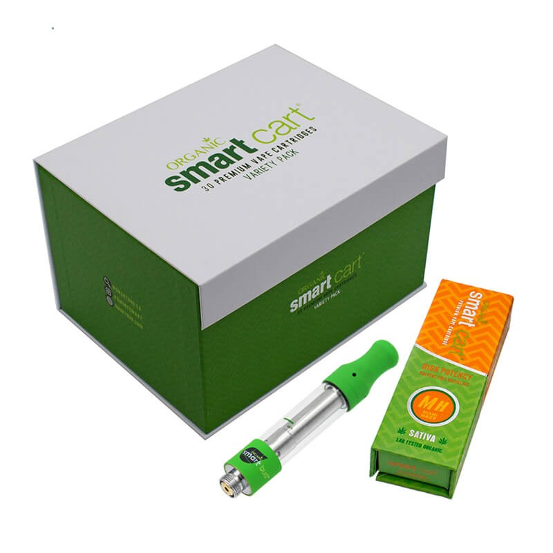 Smart Bud & Cart Organic Premium Vape Carts with Magnetic Gift Box