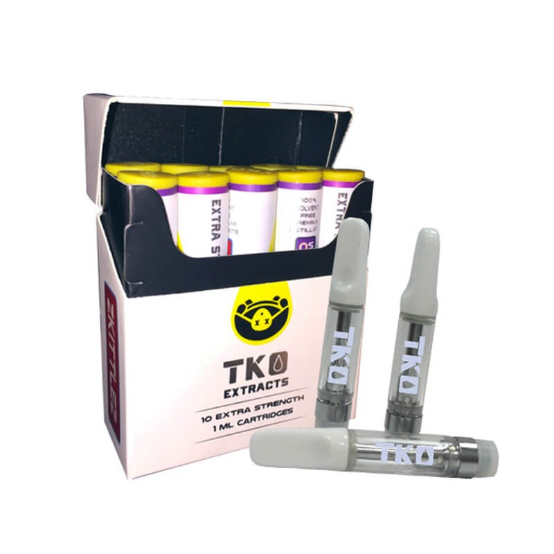 TKO Extracts Vape CBD THC Cartridges with Flavors Stickers
