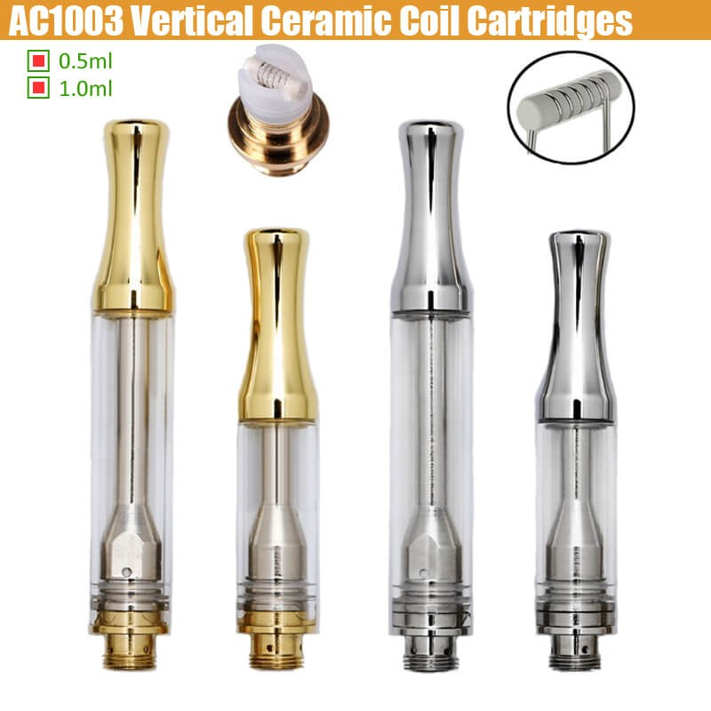 ALD AC1003 Cartridges 0 5ml/1 0ml Full Gram Silver Gold Horizontal