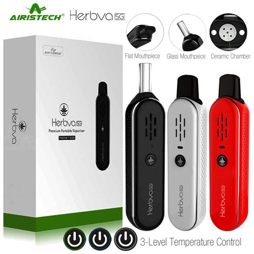 Airistech Herbva 5G Vape Pen Kit Dry Herb Herbal Vaporizer