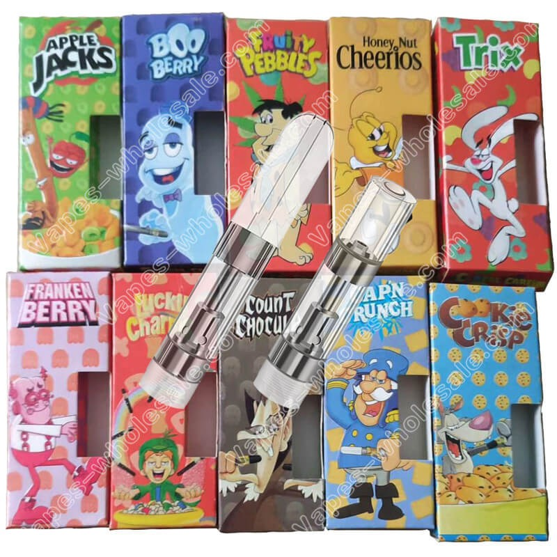 Cereal Carts Vapes THC CBD Cartridges CCELL M6T 1 Gram Vape