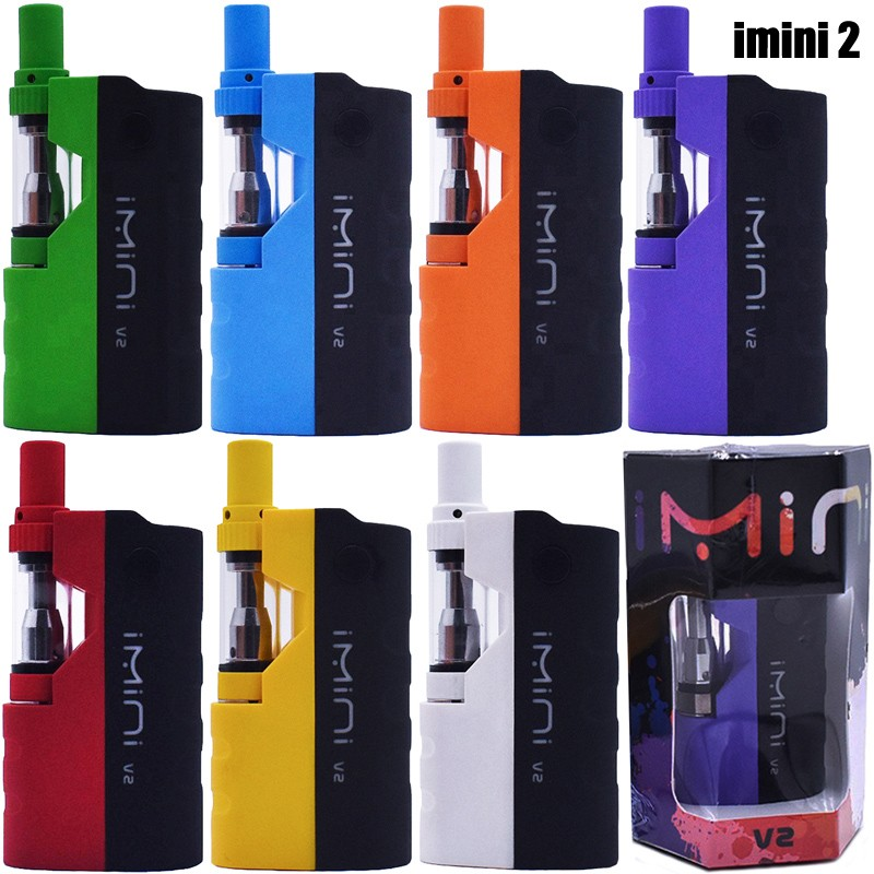 Original imini 2 V2 Vape Cartridges Vaporizer 650mAh Box MOD Battery