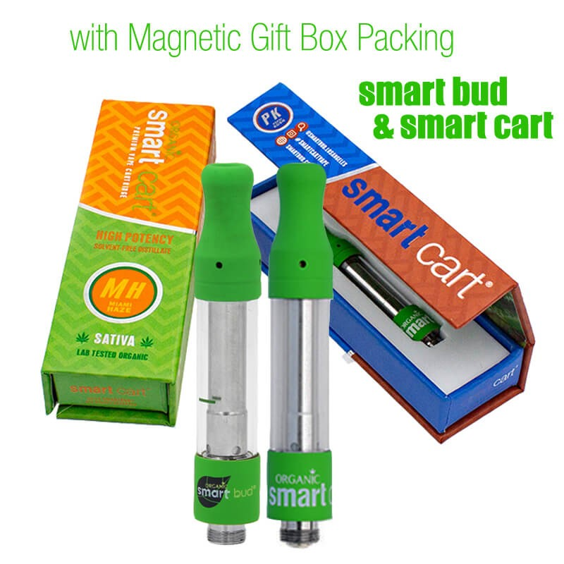 Smart Bud & Cart Organic Premium Vape Carts with Magnetic Gift Box Packing THC Cartridges