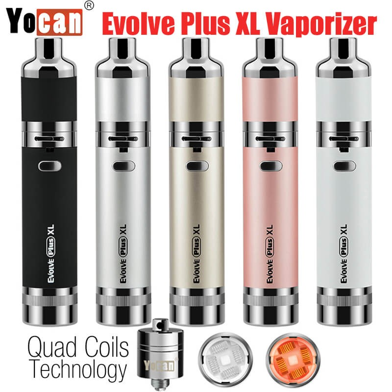 Yocan Evolve Plus XL QUAD Coils Wax Herbal Vaporizer Kit