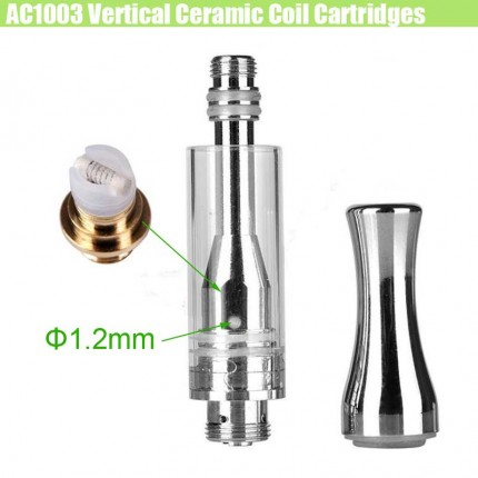 2018 Newest ALD AC1003 CBD Cartridges Vertical Ceramic Horizontal Coils THC Hemp Oil Atomizer