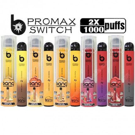 Bang XXTRA Promax Pro Max Switch 2 in 1 Double Flavors 2000 Puffs Pod Disposable Vape Pen Vapor