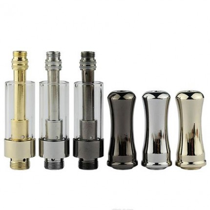 Original Ceramic Coils Vape Cartridges Pyrex Tube Metal Drip Chrome Black Gun Gold