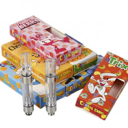 Cereal Carts THC Vape Cartridges CCELL M6T 1 Gram Pen with All Flavors Box Packaging