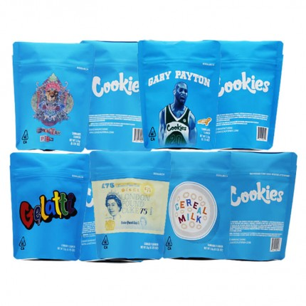 Newest COOKIES California SF 8th 3.5g Mylar Childproof Cannabis Marijuana Flower Bags