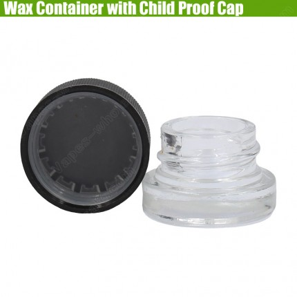 New Glass Wax Container Child Resistant Proof Cap Cover Dab Pyrex Jars