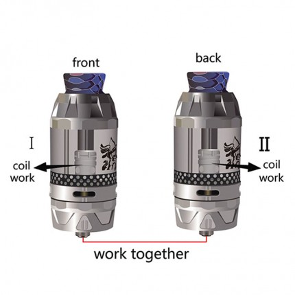 Authentic HENGLING Qtank Atomizers Gyrate Dual Flavor Subohm Tank