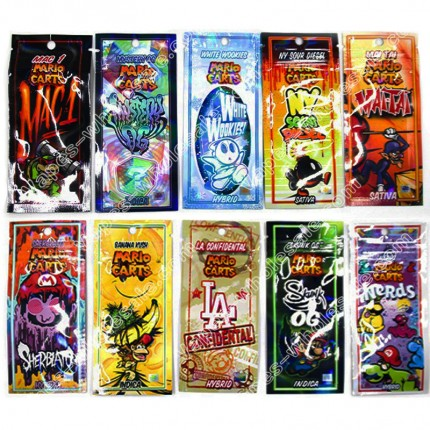 Holograms Mario Carts Holographic Printing Packaging for ikrusher AC1003 THC/CBD Cartridges
