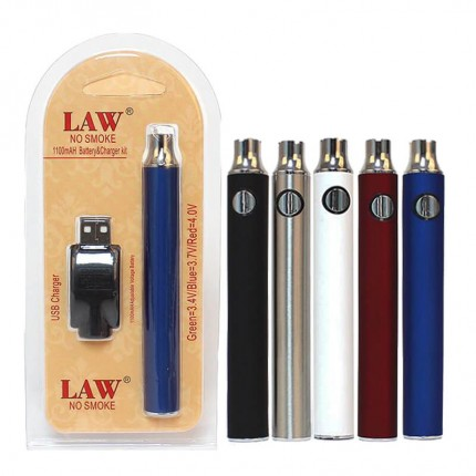LAW 350mAh 650mAh 1100mAh Preheat vv battery charger kit no smoke for thc cartridges