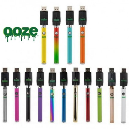 Ooze Twist Slim Pen Preheating VV Premium Battery for CBD THC Oil Cartridges