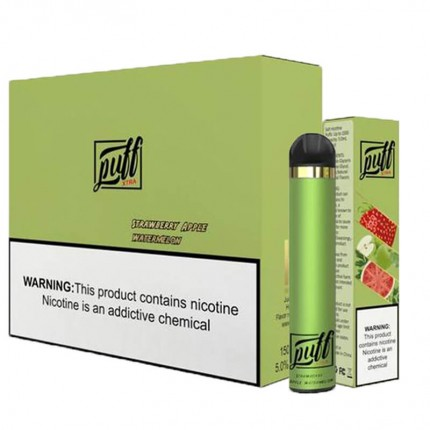 Puff Xtra Disposable Vape Pen 1500puffs Pre-filled 5ml Pod Cartridges 850mah Battery Plus Vapor