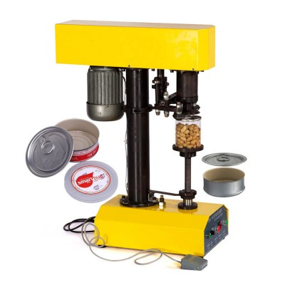 Automatic Electric Tin Cans Sealing Machine for Smartbud Cali Diamond Pre Sealed Metal Can Cap