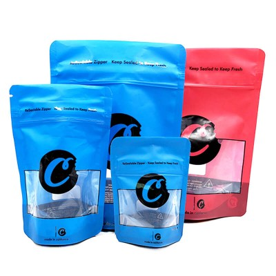 Cookies Small Medium Large Resealable Zipper Sealed Bag Packaging for Dry Herb Cannabis Flowers Leaf