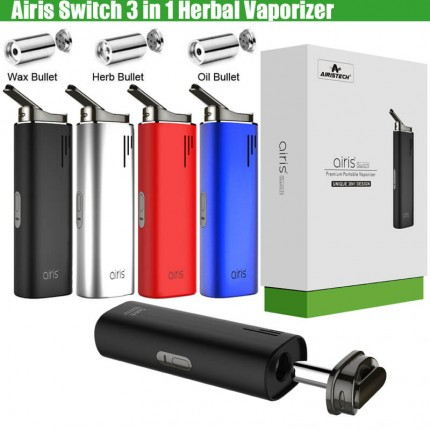 Original Airis Switch 3in1 Airistech Dry Herb Concentrate Wax CBD THC Hemp Herbal Vaporizer
