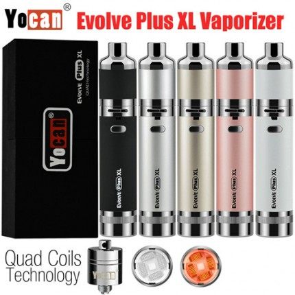 Authentic Yocan Evolve Plus XL Wax Vaporizer Kit Herbal QUAD Coils Vape Pen