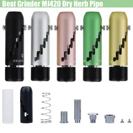 Best Grinder MJ420 Dry Herb Hookah Pipe