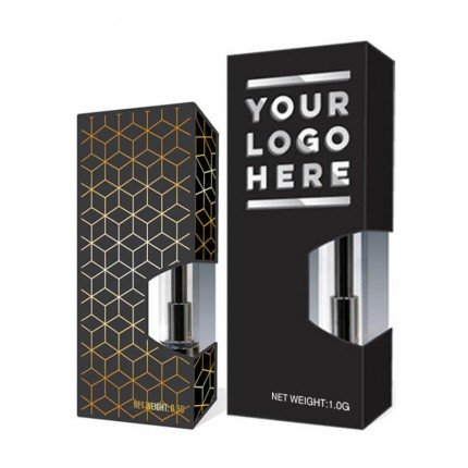 Custom Packaging Box for Vape CBD THC Cartridges Side Window 0.5 1.0 G Size