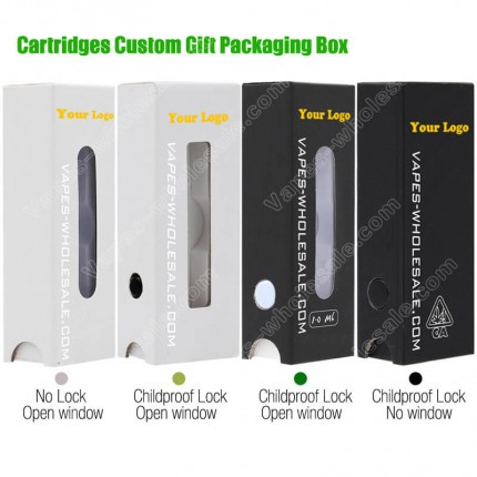 Customized Child Proof EVA Gift Packaging Box for Vape Marijuana CBD THC Cartridges Carts Custom Brand Logo