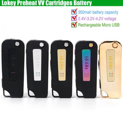 Lokey Preheat 350mAh VV CBD Cartridges Lo Key Battery