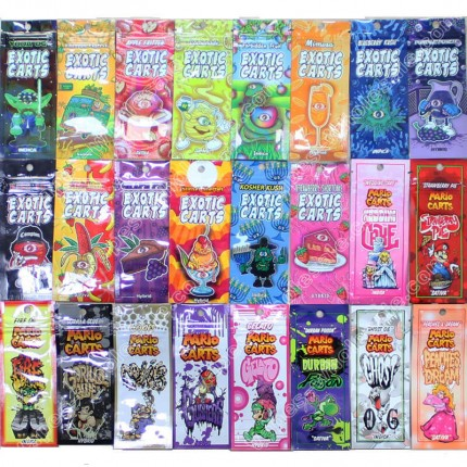 Mario & Exotic Carts 20 Folavor Stickers Package Bag for ikrusher AC1003 Cartridges