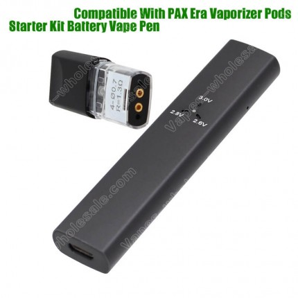 PAX Era Vaporizer Compatible Battery 380mAh Adjustable Voltage Vape Pen for CBD THC Cannabis Oil Ceramic Coil Pods