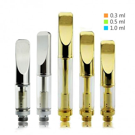 Gold Pyrex Stainless CBD Hemp Oil Cartridges Atomizer