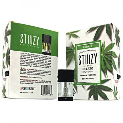 Empty Stiiizy pods Cartridges all 13 Flavors Stickers Ceramic Cell Coils Tank Replacement Atomizer