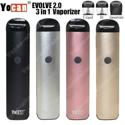 Authentic Yocan Evolve 2.0 Cartridges Pod Oil Juice Concentrate 3 in 1 Vaporizer Kit