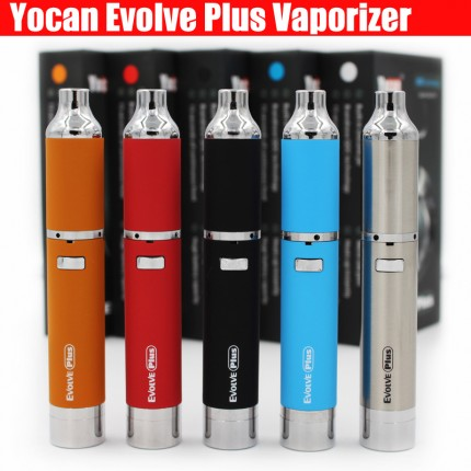 Yocan Evolve Plus Kit Quartz Dual Coil QDC Technology Wax Herbal Vaporizer