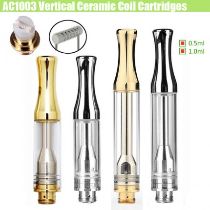 ALD AC1003 Cartridges 0.5ml/1.0ml Full Gram Silver Gold Horizontal Ceramic cell Coils