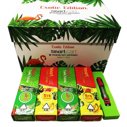 Exotic Edition SmartCart Smart Bud Cart Vape Cartridge Pink Smartbud Tank logo Magentic Packaging Box