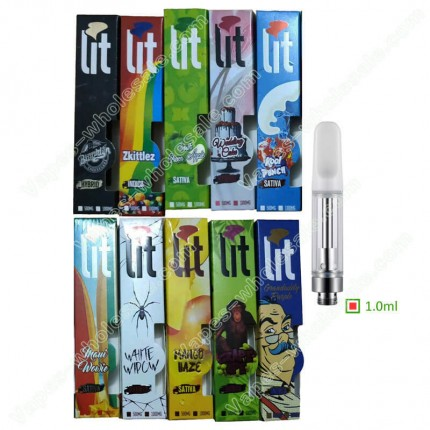 New lit Carts empty CBD THC Vapes Cartridge with Flavors Box Packaging