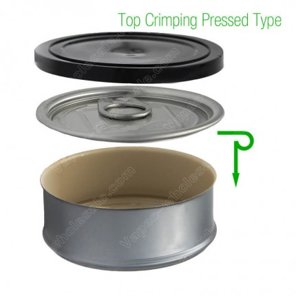 Pre Sealed Tin Cans for Cannabis Marijuana Flowers Dry Herb Hemp Smartbud Cali Diamond Can Box