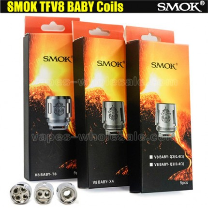 SMOK TFV8 Baby Coil Head T8 T6 X4 Q2Replaceable cores for TFV8 Baby Tank