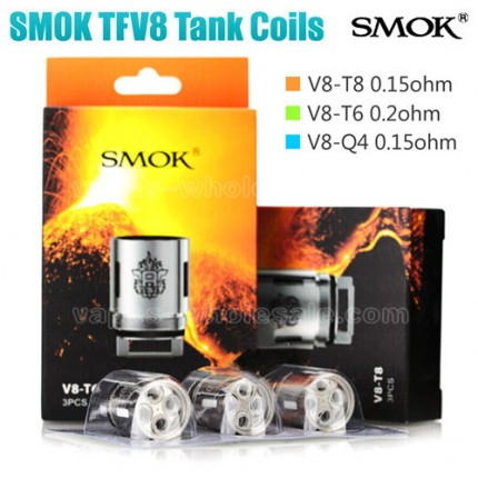 SMOK TFV8 Coils Head V8-T8 V8-T6 V8-Q4 RBA Replaceable Cores for SMOK TFV8 Cloud Beast Tank