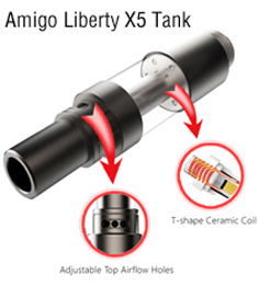 Amigo Liberty X5 Tank CBD Cartridges