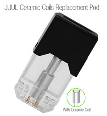 JUUL Ceramic Coils Pods Cartridge Cell Tank