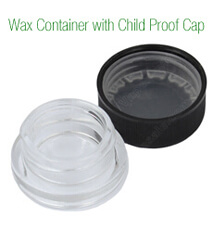 Glass Wax Container Child Resistant Proof Cap Cover Dab Pyrex Jars