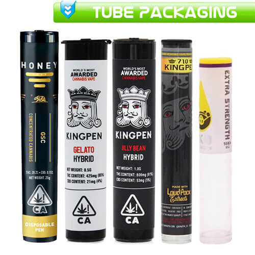 CBD THC Cartridges Customize Tube Packaging