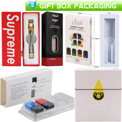 CBD THC Vapes Cartridges Gift Box Packaging